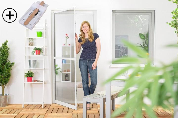 Fliegengitter Tür Master slim PLUS mit Scharnierkleber Ambiente