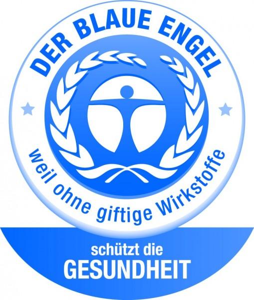 Fliegengittertür Master slim XL der blaue Engel Logo