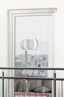 Fliegengitter mit Klettband XL, schwarz - 130 x 220 cm
