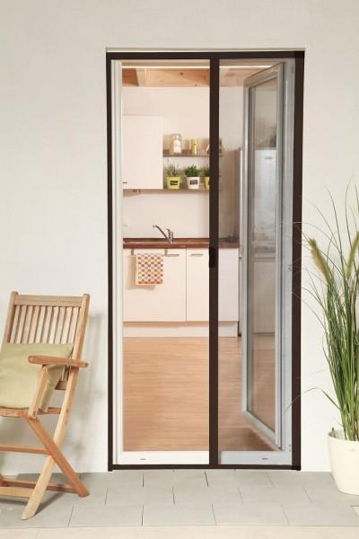Insektenschutzrollo Tür Smart braun