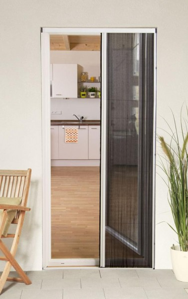 Insektenschutz Plissee Tür weiß