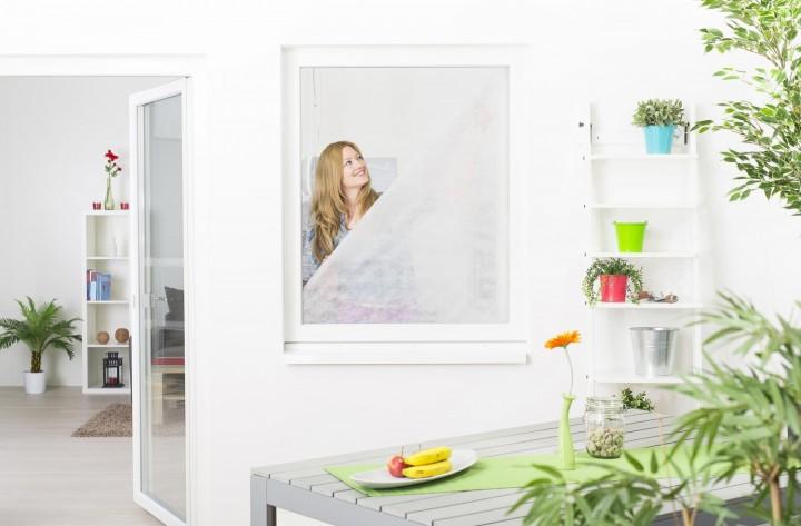 Pollenschutzvlies für Fenster mit Klettband Ambiente