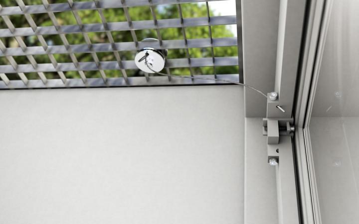 Gitterrostsicherung PROTECTUS Sicherungsplatte und Einhängevorrichtung