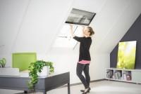 """Insektenschutz Dachfenster Plissee """"XL"""", Alurahmen - 160 x 180 cm"""