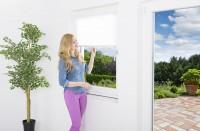 Sonnenschutz Fenster Plissee, weiß