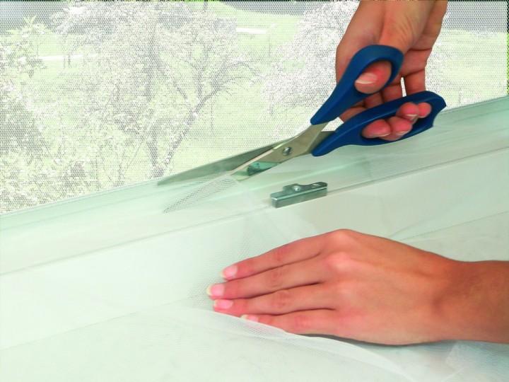 Fliegengitter Fenster mit Klettband Fliegengitter zuschneiden