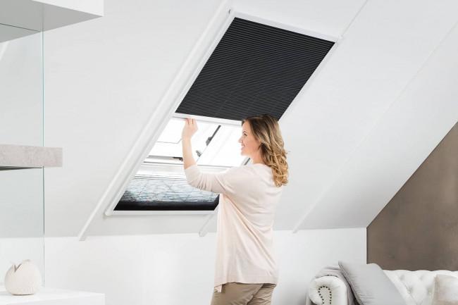 """Sonnen- / Insektenschutz Dachfenster Plissee """"MASTER DUO"""", Alurahmen - Zuschnitt"""