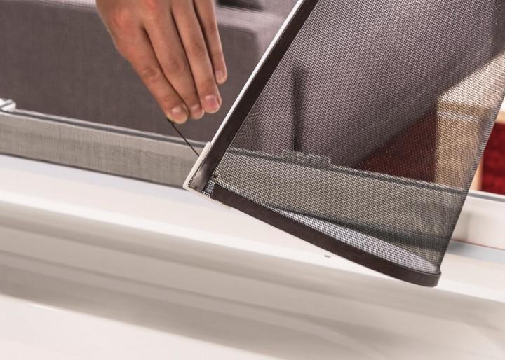 Fliegengitter Magnetfenster EASY Detail Eckverbindung