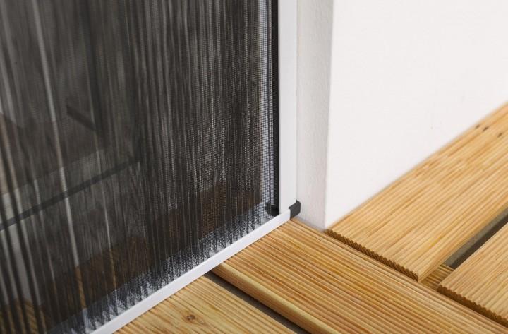 Insektenschutz Plissee Tür Wandabschluß