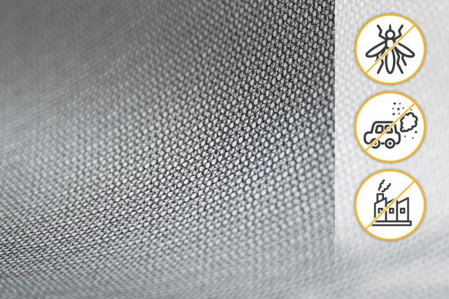 Fliegengitter Feinstaub & Smog-Filter Gewebe Respilon, Nanofaser - Meterware