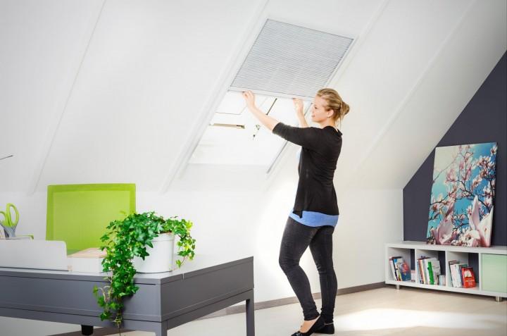 Sonnenschutz Dachfenster Plissee, Alurahmen - 110 x 160 cm