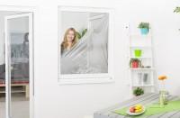 Sonnenschutz / Insektenschutz Fenster mit Klettband, 130 x 150 cm