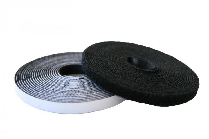 Klettband und Flauschband schwarz