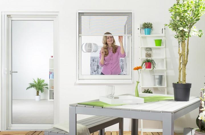 Insektenschutzrollo Fenster Smart Ambiente weiß