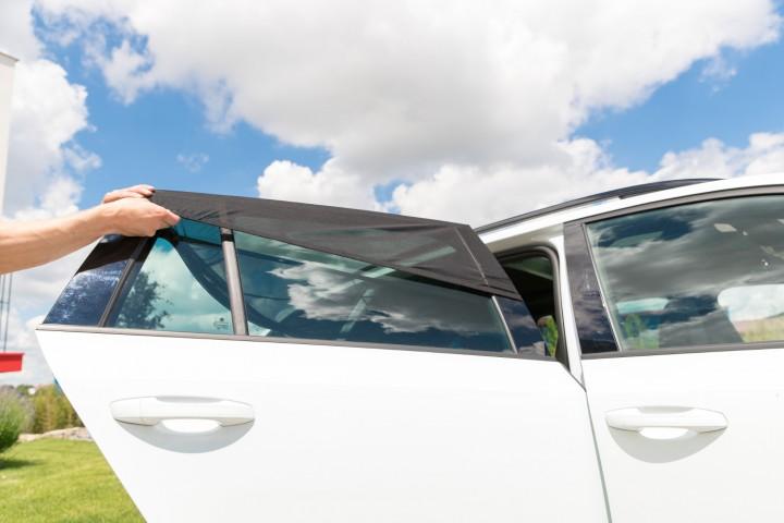 Auto Sonnenschutz  Montage Fenster