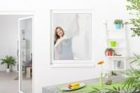 Fliegengitter Fenster mit Klettband, 5er Set - weiß - 130 x 150 cm