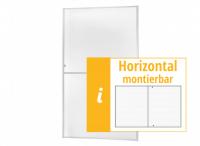 """Fliegengitter Fenster """"MASTER XL"""", Aufgebaut - Zuschnitt - 130 x 220 cm"""