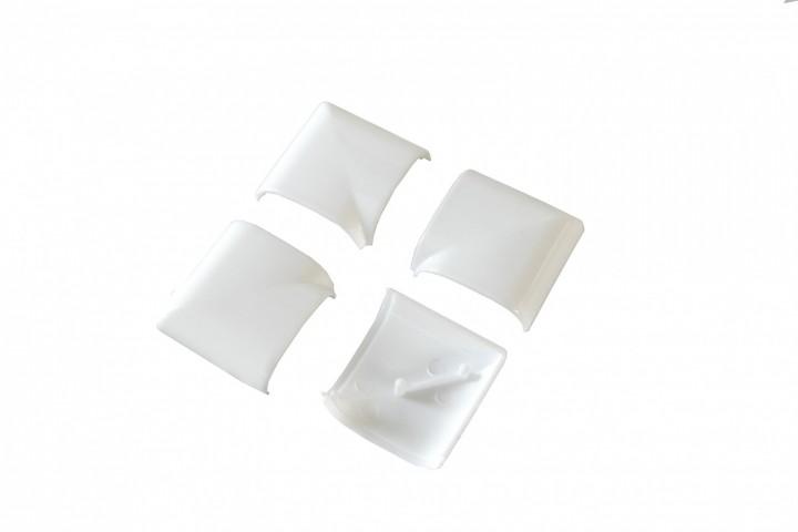 Fliegengitter Fenster Basic Abdeckkappen Weiß Kunststoff Rückseite