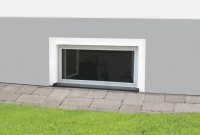 "Fliegengitter Fenster Nagerschutz ""MASTER"", weiß - 100 x 60 cm - Zuschnitt - Fertig aufgebaut"