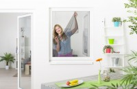 Fliegengitter Fenster mit Klettband, 5er Set - schwarz - 130 x 150 cm