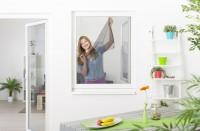 Fliegengitter Fenster mit Klettband, 10er Set - schwarz - 130 x 150 cm