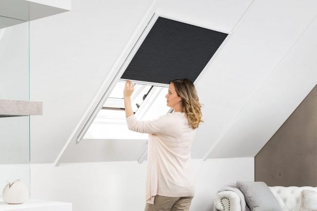 """Sonnenschutz Dachfenster Plissee """"MASTER SUN"""", Alurahmen"""