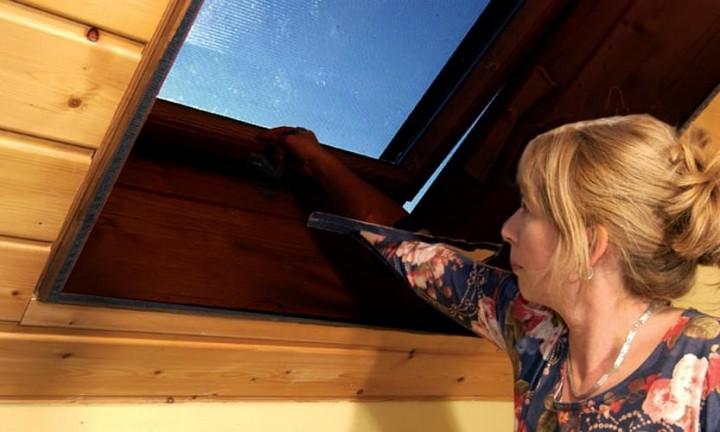 Sonnenschutz Dachfenster mit Klettband, Polyester - 140 x 170 cm
