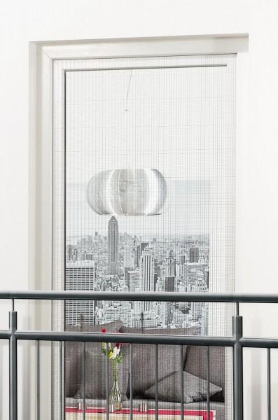 Fliegengitter für französischen Balkon mit Klettband