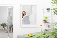 Fliegengitter Fenster mit Klettband, Polyester 30g/m² - weiß - 130 x 150 cm - 10er Set