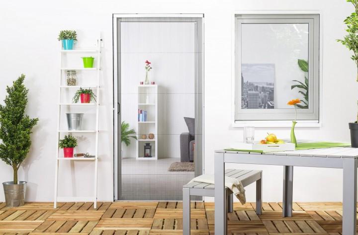 Insektenschutz Plissee Tür geschlossen