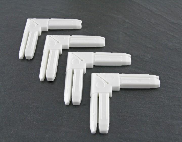 Fliegengitter Fenster Basic Eckverbinder weiß