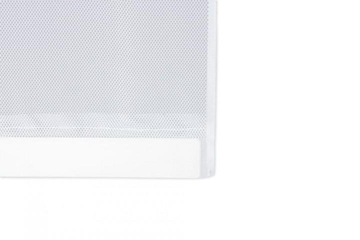 Lamellenvorhang Doppelschiebetür weiß Detail Gewichte
