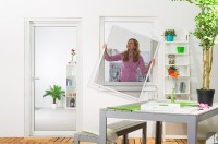"""Fliegengitter Fenster """"BASIC"""", Alurahmen - 100 x 120 cm - Set"""