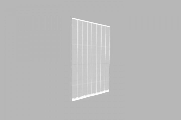 Lamellenvorhang Doppelschiebetür Türvorhang weiß