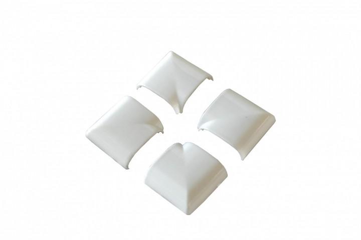 Fliegengitter Fenster Basic Abdeckkappen Weiß Kunststoff