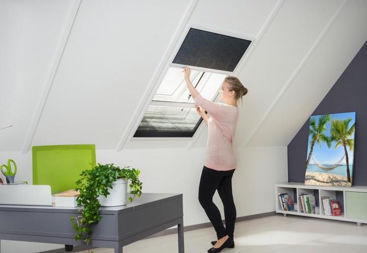 Sonnenschutz Insektenschutz Dachfenster Plissee Ambiente