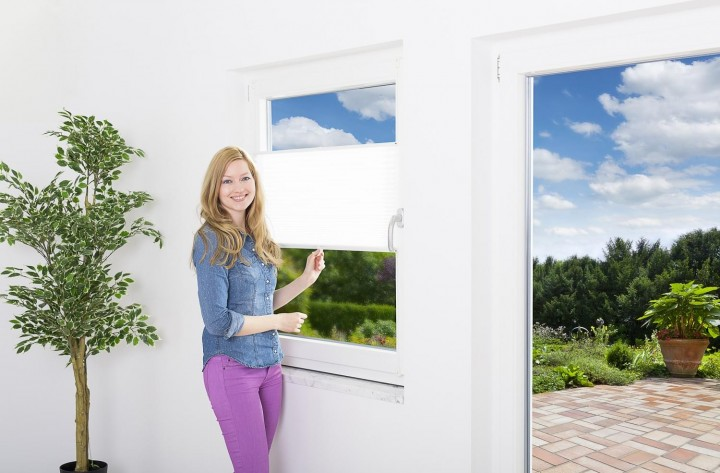 Sonnenschutz Fenster Doppelplissee Ambiente