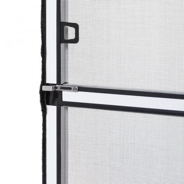 """Fliegengitter Fenster """"MASTER XL"""", Aufgebaut - Zuschnitt - Alurahmen - 130 x 220 cm"""